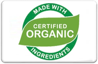 Certificado Made with certified organic ingredients